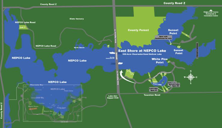 Lakefront properties nepco lake for Lake front properties
