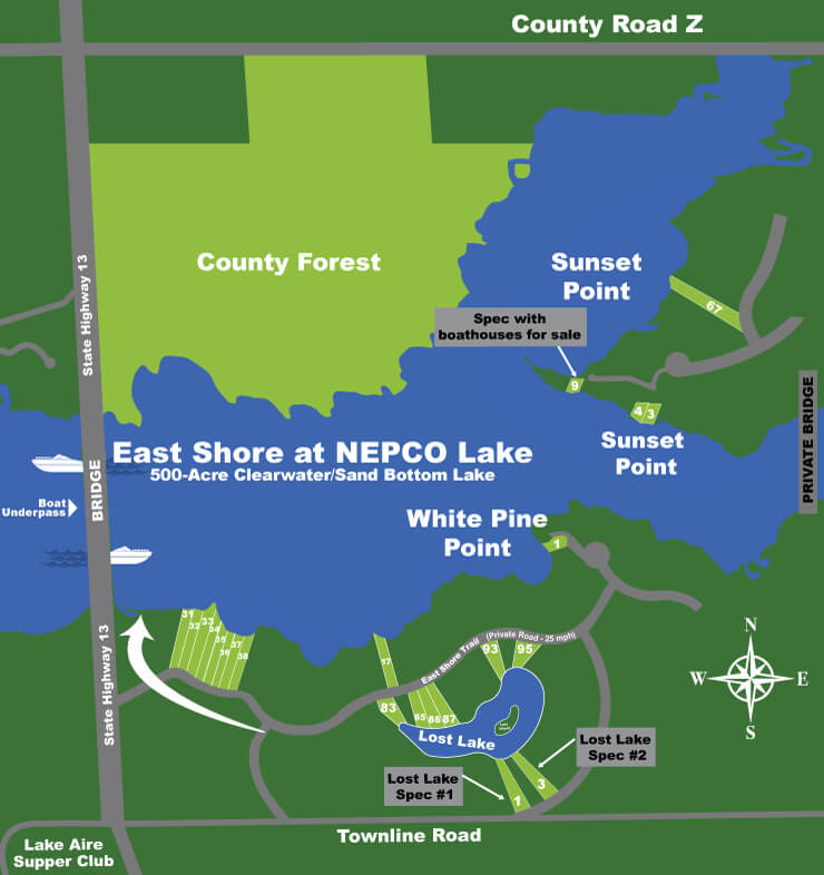 Lakefront Properties Nepco Lake