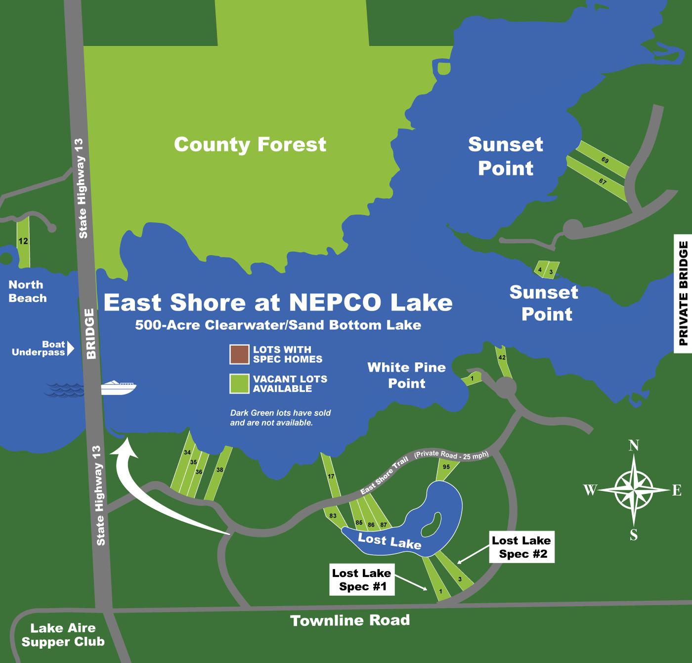 Lakefront Properties - Nepco Lake